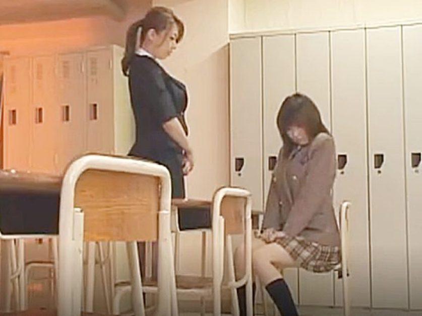 ◆ドラマ・レズ|女教師・風間ゆみ◆『教壇みて、なにシてるの?』大好きな美熟女先生と2人きりの制服JK娘。。誘惑されるョ~