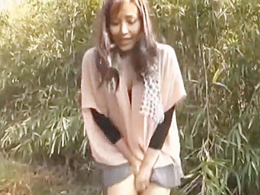 ◆野外露出・M女調教 おしっこ我慢・羞恥プレイ◆『もっ、もれちゃう..!?』ドMで生意気な美人奥様!?野ションや~