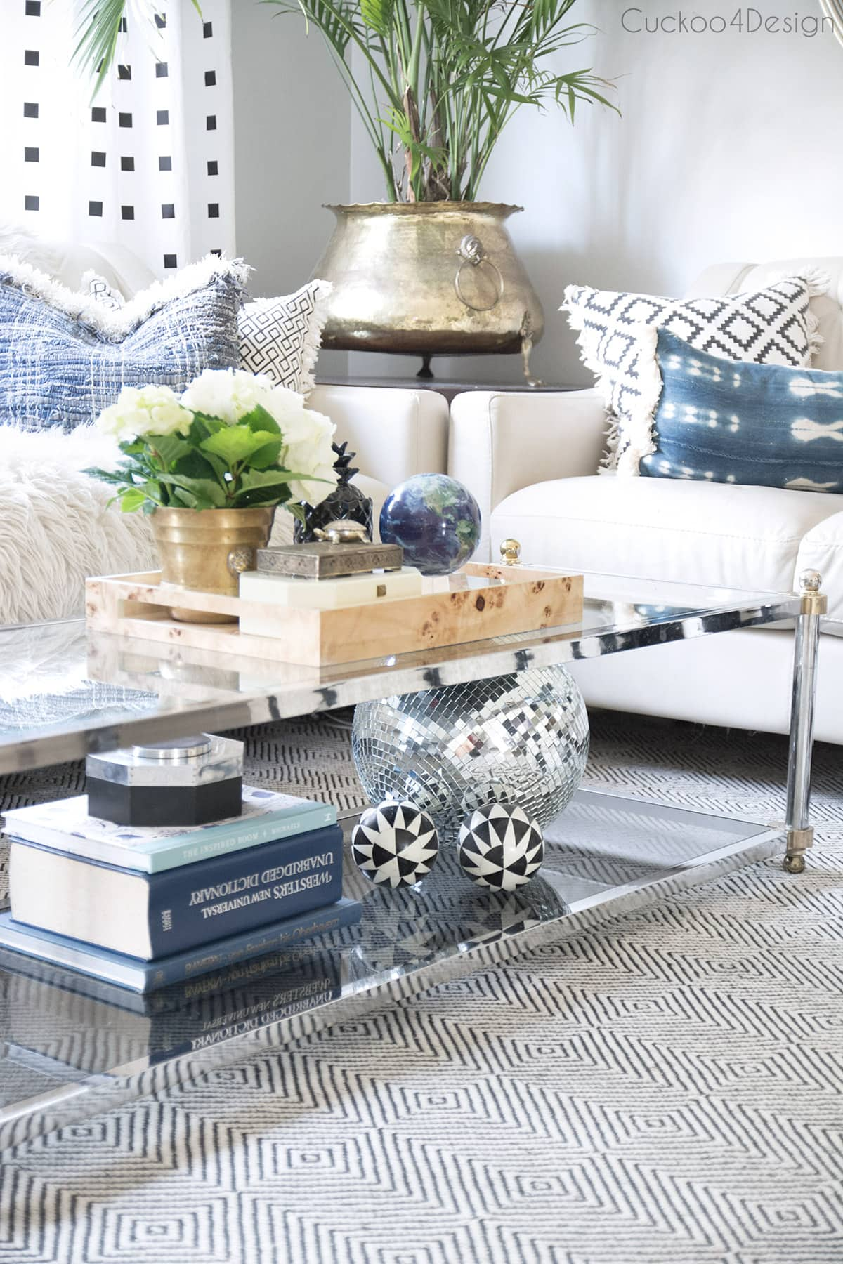 how to style a two tier coffee table