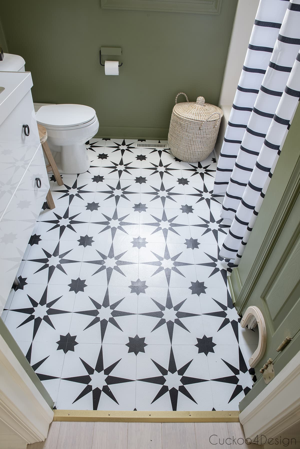 our bathroom makeover with black and