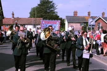 Downton Band at the Procession in 2011