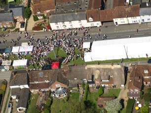 Aerial Photo at the Maypole in 2018