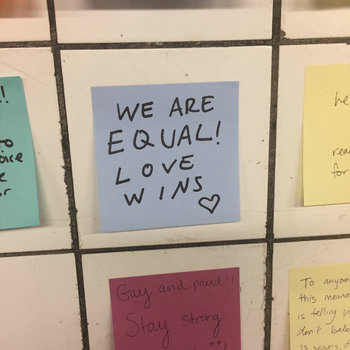 borrowed from Gothamist, seen in the 14th Street subway station