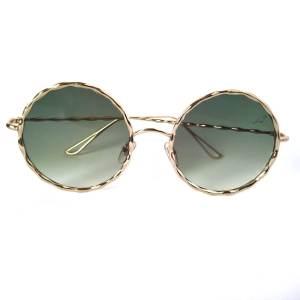 Óculos de Sol Redondo Dourado Degrade