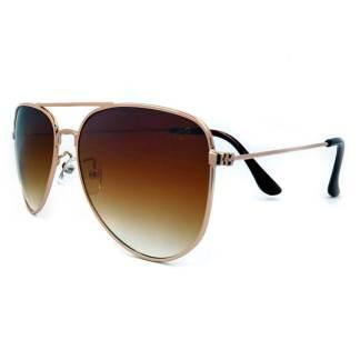 Óculos de sol aviador moscou degradê dourado