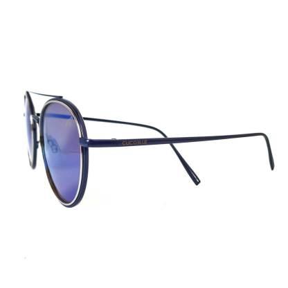 Óculos de sol redondo Espelhado Azul