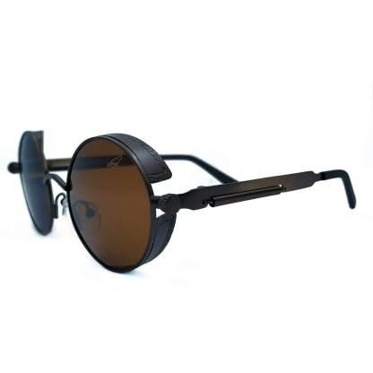 Óculos de sol retrô Boston marrom
