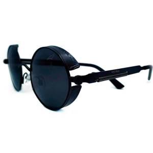 Óculos de sol redondo retrô preto MP8051 R03-91