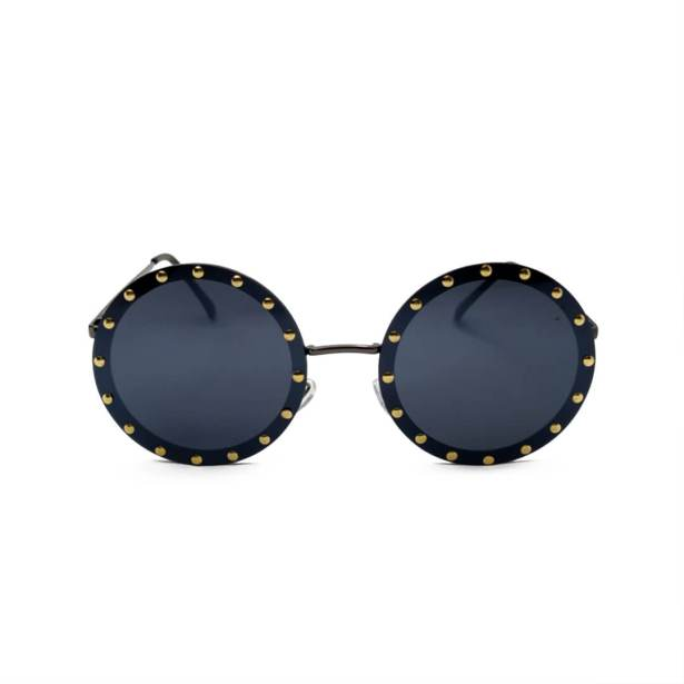 Óculos de Sol Redondo Jamaica Preto