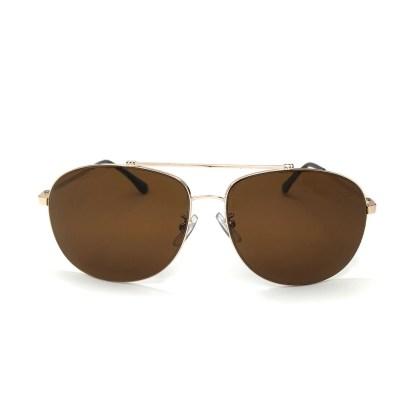 Óculos de Sol Aviador Arredondado Marrom