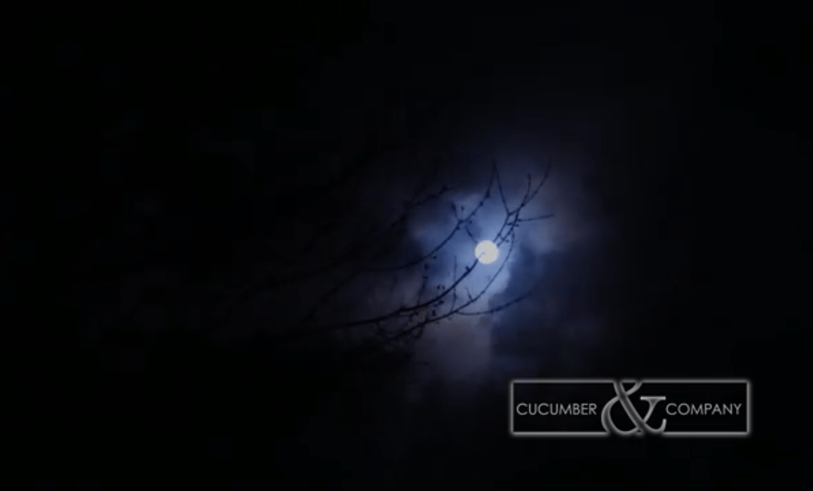 cucumber and company video graphic of full moon