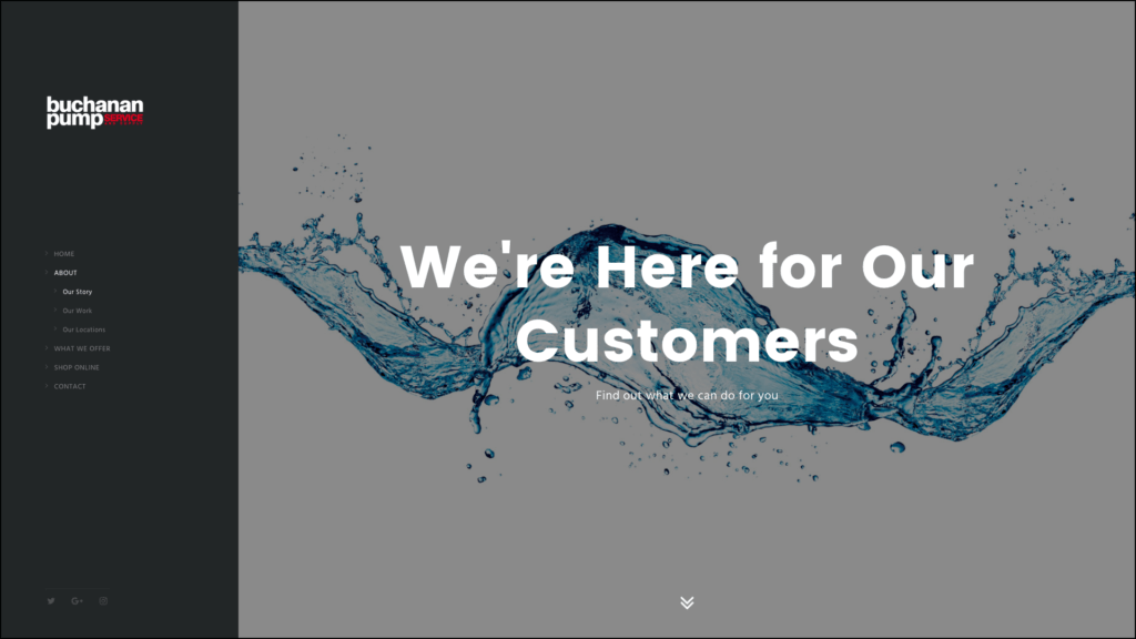 Buchanan Pump Services about us web design by cucumber & company