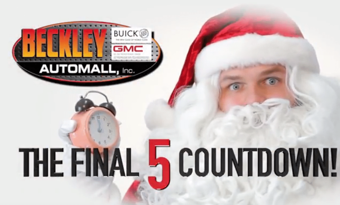 Beckley Automall Buick GMC Final 5 Countdown Christmas Car Commercial Video Production Cucumber & Company