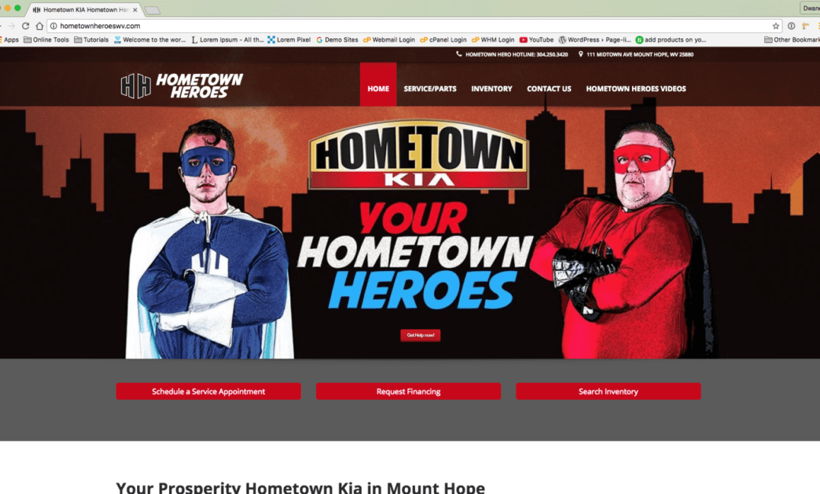 Hometown Kia Hometown Heroes Website West Virginia Web Design by Cucumber & Company