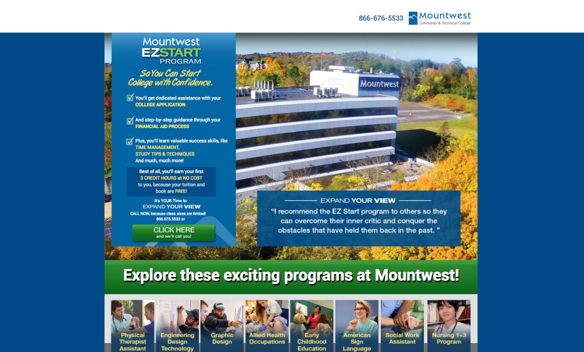 Mountwest Community & Technical College E-Z Start Program Cucumber & Co Web Design WV