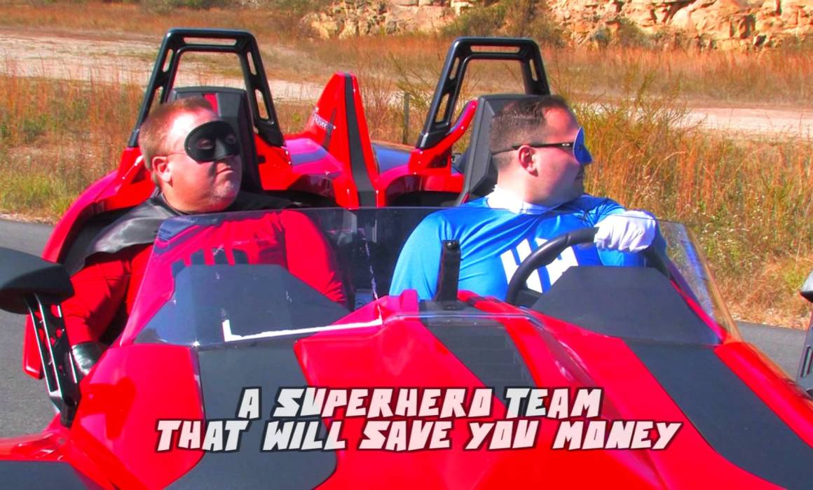 Hometown Heroes Superheros in vehicle Save you money Video Production Beckley