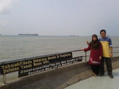 Alhamdulillah..berjaya jugak menjejakkan kaki ke Penghujung Selatan Tanah Besar Asia