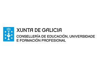 Logotipo da Xunta de Galicia. Consellería de educación, universidad e formación profesional