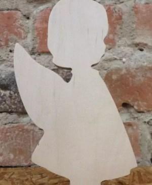 Aniołek z drewna - dziewczynka