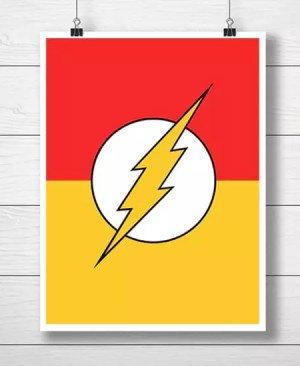 "Symbol Superbohatera ""Flash"""