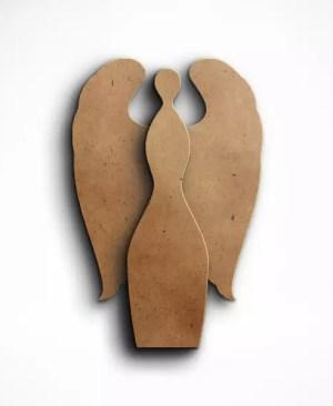 Dekoracyjny anioł mdf klejone skrzydła