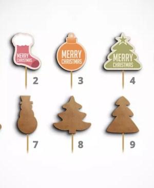 Dekoracja na piku - Boże Narodzenie