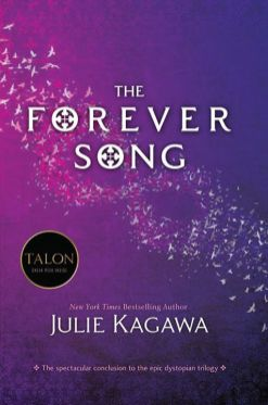 The Forever Song (Blood of Eden #3) by Julie Kagawa Goodreads | Purchase VENGEANCE WILL BE HERS Allison Sekemoto once struggled with the question: human or monster? With the death of her love, Zeke, she has her answer. MONSTER Allie will embrace her cold vampire side to hunt down and end Sarren, the psychopathic vampire who murdered Zeke. But the trail is bloody and long, and Sarren has left many surprises for Allie and her companions—her creator, Kanin, and her blood brother, Jackal. The trail is leading straight to the one place they must protect at any cost—the last vampire-free zone on Earth, Eden. And Sarren has one final, brutal shock in store for Allie. In a ruined world where no life is sacred and former allies can turn on you in one heartbeat, Allie will face her darkest days. And if she succeeds, triumph is short-lived in the face of surviving forever alone.