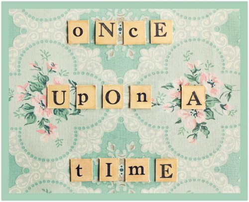 kids wall art: once upon a time by simply hue