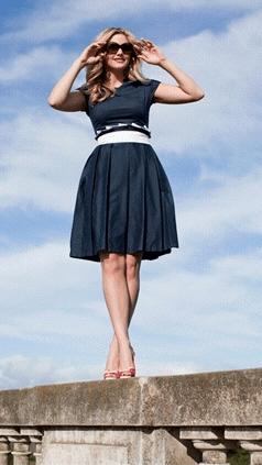 houseboat inspired fashion: navy shabby apple dress