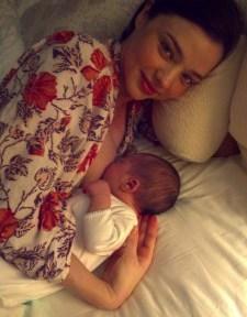 miranda kerr breastfeeding via Kora Organics blog