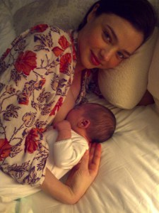 miranda kerr breastfeeding via Kora Organics blog