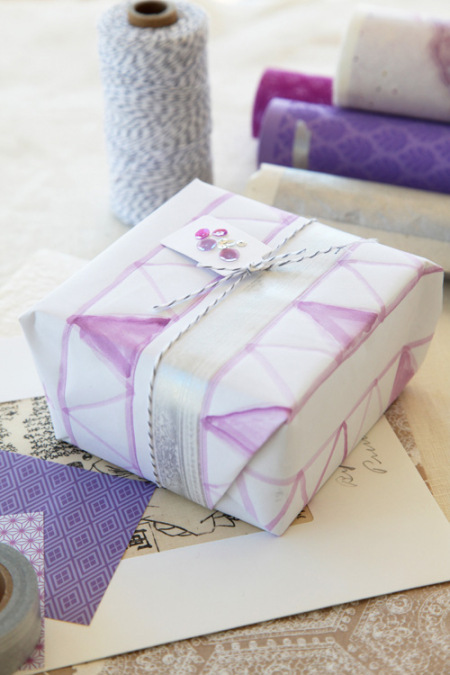 gift wrap inspiration: watercolor