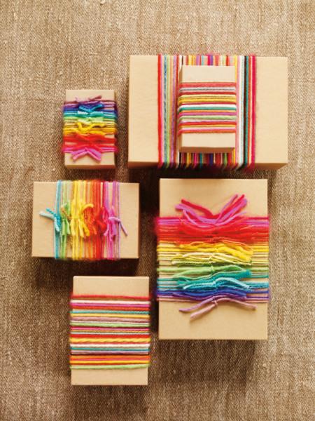 gift wrap inspiration: yarn