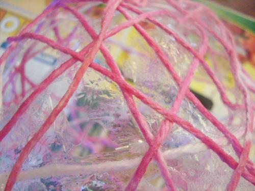DIY yarn ball drying