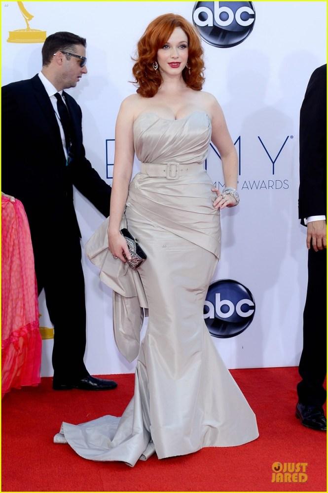 Christina Hendricks 2012 Emmy fashion