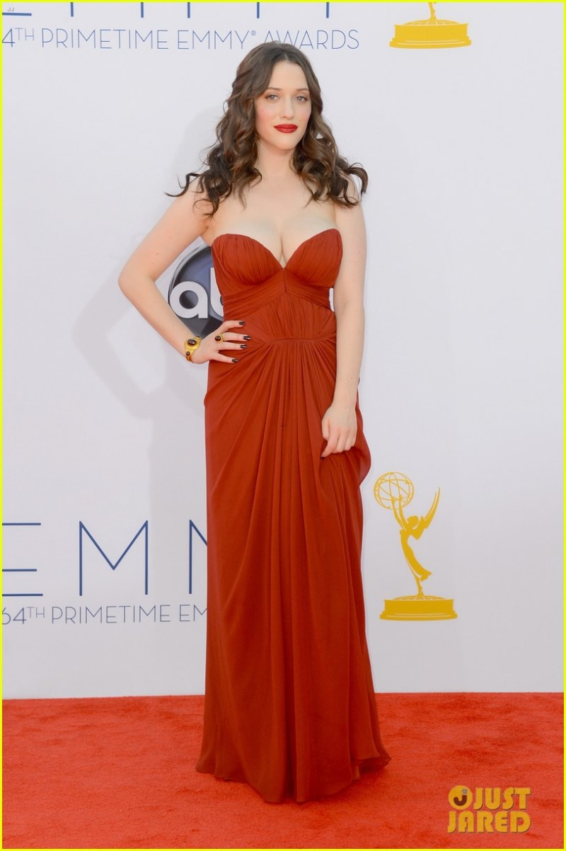 Kat Dennings 2012 Emmy fashion