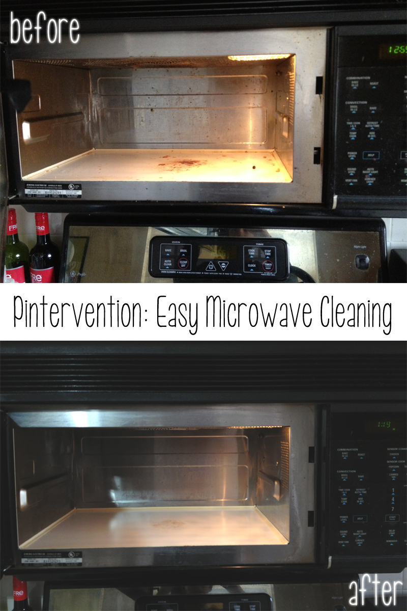 easy microwave cleaning tip via Cuddles and Chaos