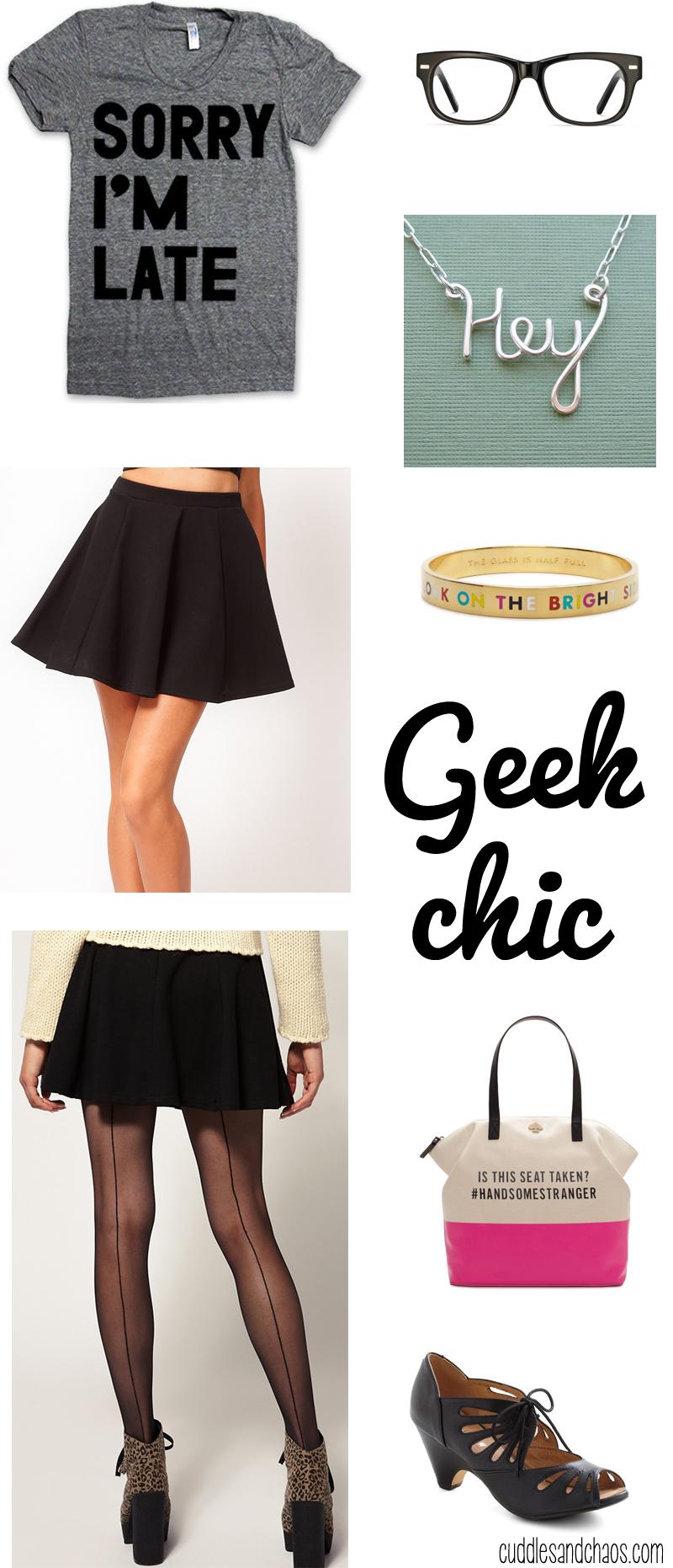 geek chic fashion via Cuddles and Chaos