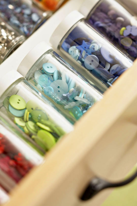 spice jars for craft organization