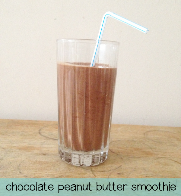smoothie recipes: chocolate peanut butter smoothie