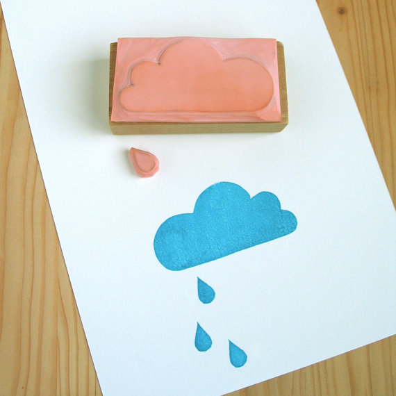 etsy finds: design queue rubber stamp