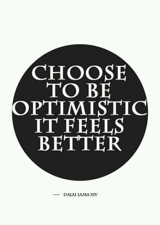 inspirational quotes: choose to be optimistic