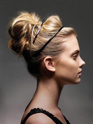 easy summer hairsyles: double headband