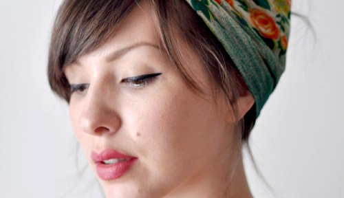 Easy summer hairstyles: hair scarf