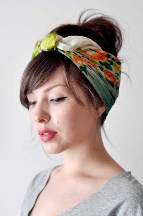 Easy summer hairstyles: hair scarf