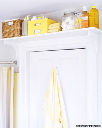 bathroom organization: toiletry shelf