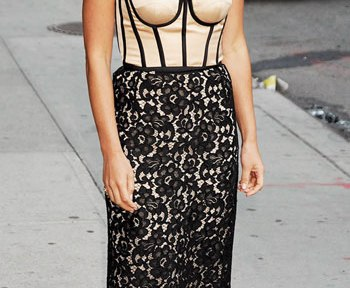 Olivia Munn in lace