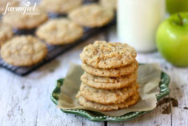 apple recipes: apple peanut butter cookies