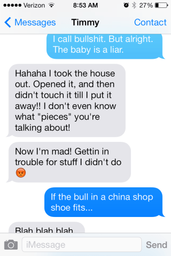 more angry texts to my husband
