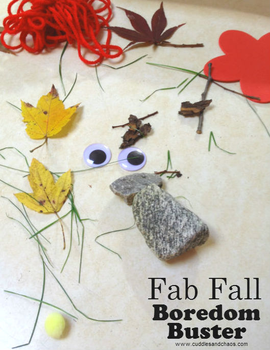 Fall boredom buster craft for kids | Cuddles and Chaos